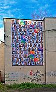 Mural, reklama Festiwalu Kultury Żydowskiej na krakowskim Kazimierzu.<br /> Mural, an advertisement of the Jewish Culture Festival in Krakow, Kazimierz.