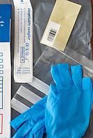 coronavirus self testing kit at the Ricoh arena. Coventry regional test centre photo by Brad Jennings