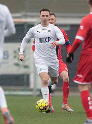 Sebastian Czajkowski (FC Roskilde) under træningskampen mellem FC Roskilde og FC Helsingør den 15. februar 2020 i Roskilde Idrætspark (Foto: Claus Birch).