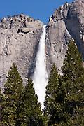 Upper Yosemity Falls in Yosemite National Park, CA, USA