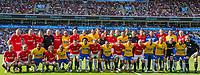 Fotball , 9. juni 2018 , Omkampen<br /> Norge - Brasil<br /> Norge Brasil mix<br /> Foto: Christoffer Hansen , Digitalsport