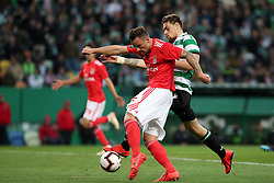 February 3, 2019 - Lisbon, Portugal - Benfica's Suisse forward Haris Seferovic (L ) vies with Sporting's defender Sebastian Coates from Uruguay during the Portuguese League football match Sporting CP vs SL Benfica at Alvalade stadium in Lisbon, Portugal on February 3, 2019. (Credit Image: © Pedro Fiuza/NurPhoto via ZUMA Press)