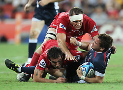 Action from the Super 15 match between the Queensland Reds and the Melbourne Rebels 18 March 2011 - Conditions of Use - this image is intended for editorial use only.  Any further use requires additional clearance.  Photo - Warren Keir (SMP Images).