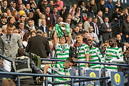 Michael Johnston holds the William Hill Scottish Cup aloft following their victory today in the William Hill Scottish Cup Final match between Heart of Midlothian and Celtic at Hampden Park, Glasgow, United Kingdom on 25 May 2019.