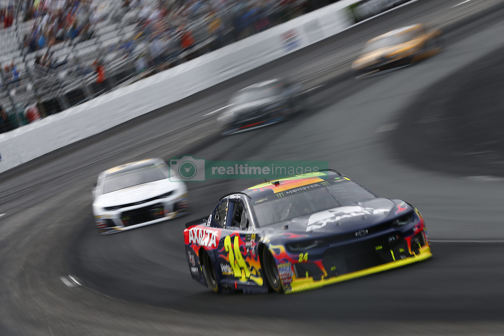 July 22, 2018 - Loudon, New Hampshire, United States of America - William Byron (24) battles for position during the Foxwoods Resort Casino 301 at New Hampshire Motor Speedway in Loudon, New Hampshire. (Credit Image: © Justin R. Noe Asp Inc/ASP via ZUMA Wire)