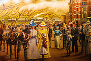 Mural depicting an early western scene, Durango, Colorado USA