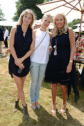 Left to right, VICKY HELY-HUTCHINSON, LADY ALEXANDRA GORDON-LENNOX and PARKY FONDA wife of Peter Fonda at the Cartier 'Style et Luxe' part of the Goodwood Festival of Speed, Goodwood House, West Sussex on 14th July 2013.