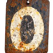 Damaged zero number plate