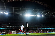 General shot of the stadium and Marcus Rashfrod (7) during the FIFA World Cup Qualifier match between England and Slovakia at Wembley Stadium, London, England on 4 September 2017. Photo by Sebastian Frej.