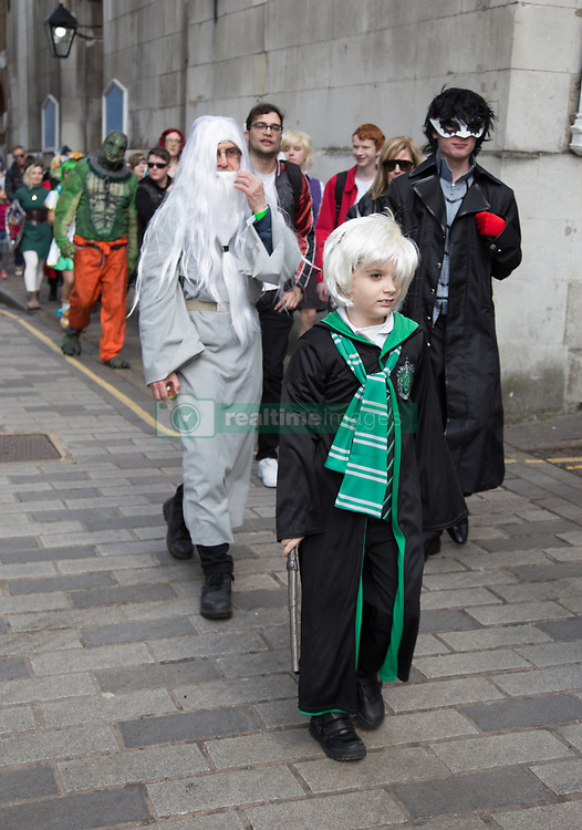 April 14, 2018 - London, England, United Kingdom - Number of people in games characters costumes on a final day of London Games Festival take to the streets of London in the Games Character Parade in London, Englan, on 14 April 2018. (Credit Image: © Dominika Zarzycka/NurPhoto via ZUMA Press)