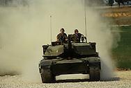 Vice President H W Bush Bush 41 in an M 1 A1 tank in Fort Knox..Photograph by Dennis Brack bb24