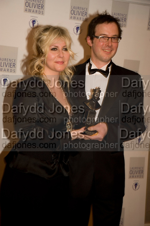 Emma Williams; Tom Piper, The Laurence Olivier Awards, The Grosvenor House Hotel. Park Lane. London. 8 March 2009 *** Local Caption *** -DO NOT ARCHIVE -Copyright Photograph by Dafydd Jones. 248 Clapham Rd. London SW9 0PZ. Tel 0207 820 0771. www.dafjones.com<br /> Emma Williams; Tom Piper, The Laurence Olivier Awards, The Grosvenor House Hotel. Park Lane. London. 8 March 2009