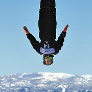 Michael Rossi performs aerial acrobatics during the 2009 Sprint US Freestyle Championships held at the Utah Olympic Park in Park City on March 8, 2009.