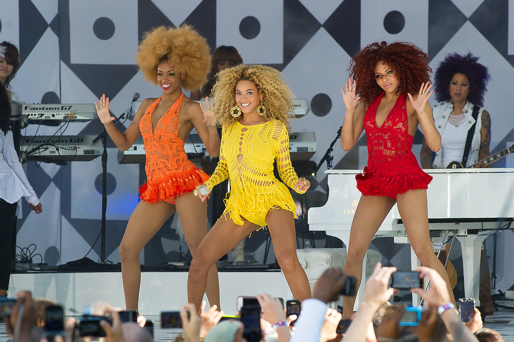 Beyonce performs on Good Morning America's Summer Concert Series the Rumsey Playfield in Central Park New York City.