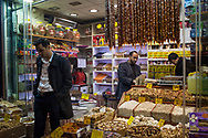 An independent shop selling nuts and sweets in Kayseri's old shopping district.