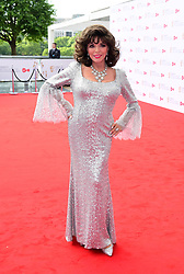 Joan Collins arriving for the Virgin TV British Academy Television Awards 2017 held at Festival Hall at Southbank Centre, London. PRESS ASSOCIATION Photo. Picture date: Sunday May 14, 2017. See PA story SHOWBIZ Bafta. Photo credit should read: Ian West/PA Wire
