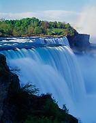 The American Falls, 180-feet-high, Niagara Reservation State Park, Niagara Falls, New York.