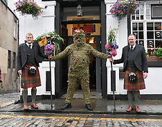 Traditional Burryman march, South Queensferry, 9 August 2019