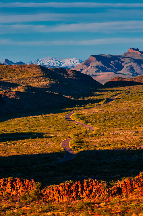 Ross Maxwell Scenic Drive, Big Bend National Park, Texas USA.