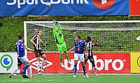 Fotball Menn Eliteserien Ranheim-Mjøndalen<br /> Extra Arena, Ranheim<br /> 23 juni 2019<br /> <br /> Mjøndalens keeper Julian Faye Lund bokser ut<br /> <br /> <br /> Foto : Arve Johnsen, Digitalsport