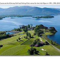 An aerial picture of the 18th hole on the Killeen Course  at Killarney Golf and Fishing Club home of the 3 Irish Open from July 29-Aug 1st.<br /> Picture by Don MacMonagle