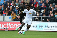 Wilfried Bony of Swansea city © in action.  Premier league match, Swansea city v Newcastle Utd at the Liberty Stadium in Swansea, South Wales on Sunday 10th September 2017.<br /> pic by  Andrew Orchard, Andrew Orchard sports photography.