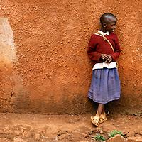 Africa, Tanzania, Karatu. Tloma Primary School Girl in Karatu, Tanzania.