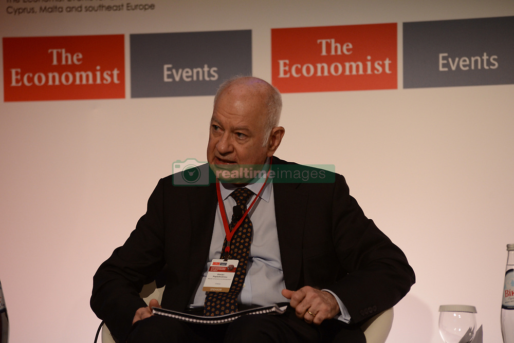 June 28, 2017 - Athens, Attiki, Greece - Dimitri Papadimitriou, minister of Economy and Development in Greece, during the 21st Roundtable with the Government of Greece..The 21st Economist Government Roundtable is giving the opportunity to participants to discuss and debate with distinguished speakers from both sides of Atlantic on key issues related to critical developments in Europe and the U.S. (Credit Image: © Dimitrios Karvountzis/Pacific Press via ZUMA Wire)