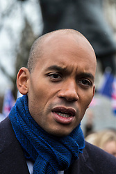 © Licensed to London News Pictures. 13/12/2017. London, UK. Chuka Umunna MP at a rally in support of Amendment 7 to the EU Withdrawal Bill. Photo credit: Rob Pinney/LNP