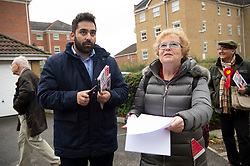 © Licensed to London News Pictures. 03/11/2019. London, UK. Ali Milani, the Labour Party General Election candidate is canvassing with supporters in Uxbridge & South Ruislip at the start of his campaign. He hopes to defeat British Prime Minister Boris Johnson who is MP for the constituency. Photo credit: Ray Tang/LNP