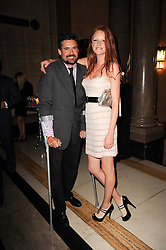 OLIVIA INGE and EDWARD TAYLOR at The inaugural Quintessentially Awards held at the Freemason's Hall, Covent Garden, London on 1st June 2010.