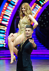 Stacey Dooley and Aljaz Skorjanec attend the photocall for the 'Strictly Come Dancing' live tour at Arena Birmingham on 17 January 2019 in Birmingham, England. Picture date: Thursday 17 January, 2019. Photo credit: Katja Ogrin/ EMPICS Entertainment.