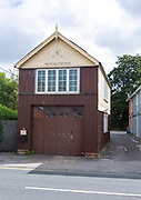 The Old Fire Engine House building, Pewsey, Wiltshire, England, UK built 1902 headquarters for Pewsey carnibval