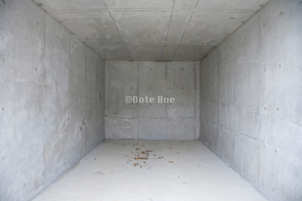 concrete garage under construction