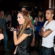 NLD/Amsterdam/20100210 - Uitreiking Jackie's Best Dressed Award 2010, Dewi Pechler en vermoedelijk haar partner