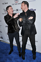 (L-R) Colton Haynes and Fiance Jeff Leatham arrives at Jessie Tyler Ferguson's 'Tie The Knot' 5 Year Anniversary celebration held at NeueHouse Hollywood in Los Angeles, CA on Thursday, October 12, 2017. (Photo By Sthanlee B. Mirador/Sipa USA)