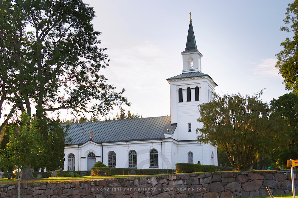 Lonneberga, a small, rural, Swedish village made famous by Astrid Lindgren's story of Emil in Lönneberga. The church. Lonneberga Smaland region. Sweden, Europe.