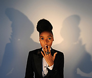 MANHATTAN, NEW YORK, MAY 20, 2010 R&B singer and songwriter Janelle Monae is seen in offices at Atlantic Records in Manhattan, NY. Monae, who lives in Atlanta, GA, has a new album out. 5/9/2006 Photo by Jennifer S. Altman/For The Times