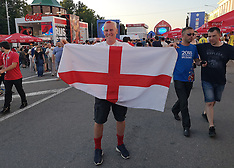 England and Panama fans in Russia - 23 June 2018