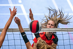Jil Lamers #2 of Somas Active in action in the first Topdivision match between Booleans/ VV Utrecht - SOMAS/Activia on September 19, 2020 in Utrecht.