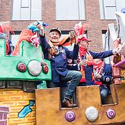 NLD/Eindhoven/20190302  - Romario bij carnavalsoptocht 2019 in Eindhoven, Praalwagen met feestvierder