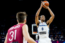 Anthony Randolph of Slovenia during basketball match between National Teams of Slovenia and Latvia at Day 13 in Round of 16 of the FIBA EuroBasket 2017 at Sinan Erdem Dome in Istanbul, Turkey on September 12, 2017. Photo by Vid Ponikvar / Sportida