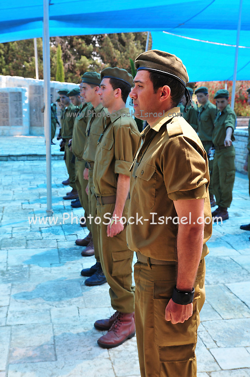 Israel, Mount Carmel, Isfiya (also known as Ussefiya, a Druze village and local council) Soldier's Memorial Day at the local cemetery April 18 2010