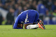 Willian of Chelsea looks on injured after being challenged. Barclays Premier league match, Chelsea v Newcastle Utd at Stamford Bridge in London on Saturday 13th February 2016.<br /> pic by John Patrick Fletcher, Andrew Orchard sports photography.
