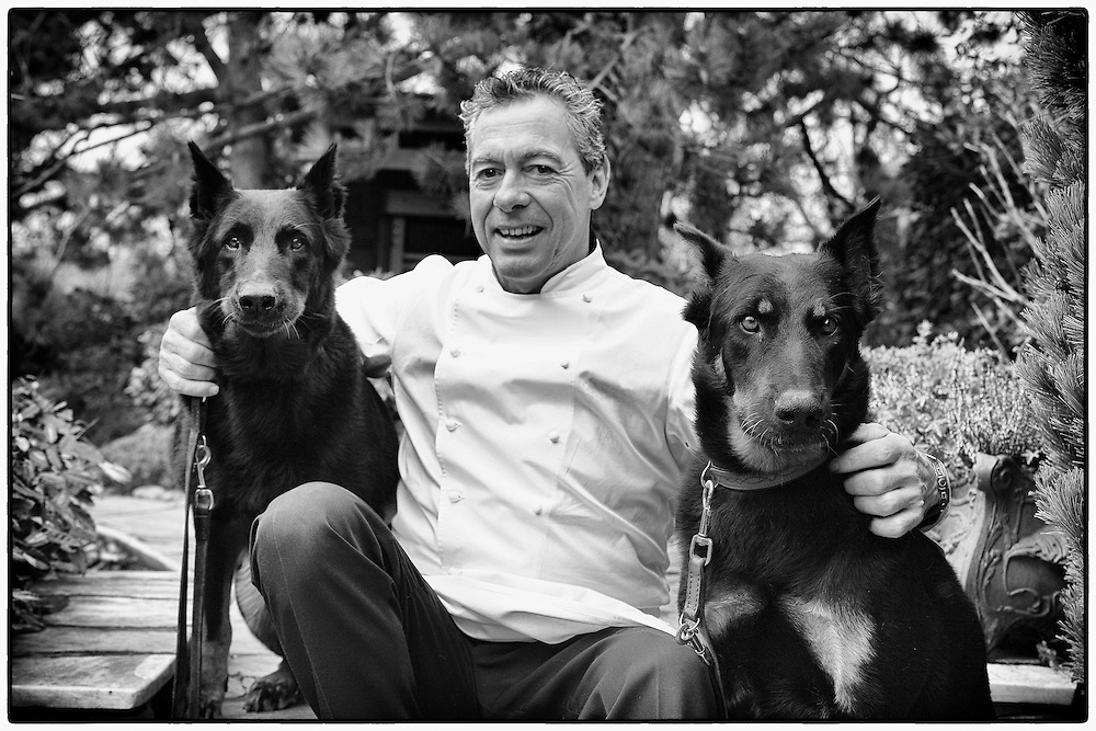 Mr. Philippe Rochat with his two lovely girls as he called them. One of the most prestigious Swiss cook who recently passed away