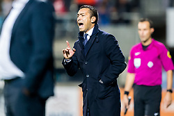 coach Giovanni van Bronckhorst of Feyenoord during the Dutch Eredivisie match between Heracles Almelo and Feyenoord Rotterdam at Polman stadium on September 09, 2017 in Almelo, The Netherlands