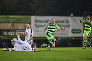 Forest Green Rovers Liam Noble(15) goes close with a shot during the Vanarama National League match between Forest Green Rovers and Tranmere Rovers at the New Lawn, Forest Green, United Kingdom on 22 November 2016. Photo by Shane Healey.