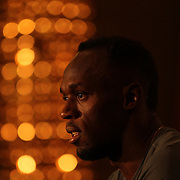 Olympic Gold Medalist Usain Bolt, Jamaica, at a press conference at the Grand Hyatt Hotel, Manhattan, New York, ahead of the weekends Adidas Grand Prix as part of the International Diamond League Circuit in New York, USA. 12th June 2015. Photo Tim Clayton