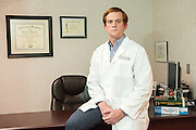 Surgeon Aaron B. House, MD, photographed Friday, May 22, 2015 at Baptist Health in Corbin, Ky. (Photo by Brian Bohannon/Videobred for Baptist Health)