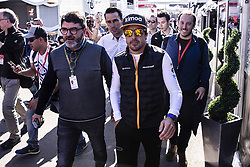 February 26, 2019 - Montmelo, Barcelona, Spain - Fernando Alonso fom Spain of Mclaren F1 Team - Renault MCL34 portrait with his manager Luis Garcia Abadduring the Formula 1 2019 Pre-Season Tests at Circuit de Barcelona - Catalunya in Montmelo, Spain on February 26. (Credit Image: © Xavier Bonilla/NurPhoto via ZUMA Press)